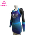 Cut And Sewn Sublimated Blue Cheerleader မတ်မတ်