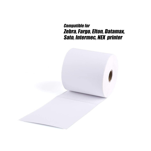 Zebra 4X6 Direct Thermal Shipping Labels Packaging rolls