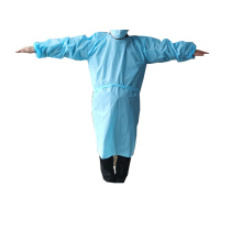Waterproof plastic isolation gown/CPE isolation gown with CE and FDA