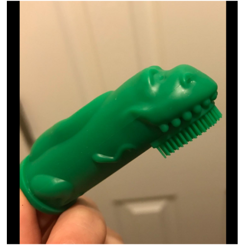 Custom Food Grade Funny Animals Silicone Finger Toothbrush