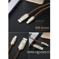 zinc alloy usb cable charging for iphone