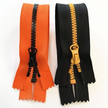 Good-looking large plastic zippers for coat
