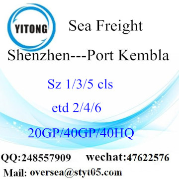 Shenzhen Port Sea Freight Shipping To Port Kembla