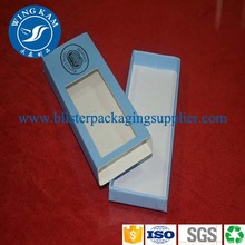 Lusury Small Bright Blue Paper Packaging with Glossy Varnish Coating