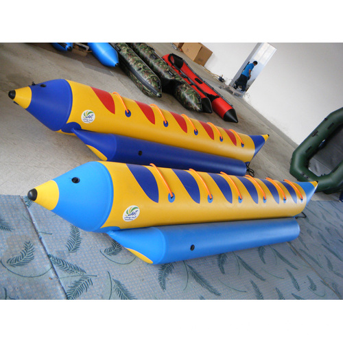 funny PVC inflatable banana boat with accessories
