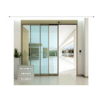 Heavy duty automatic sliding door for supermarket