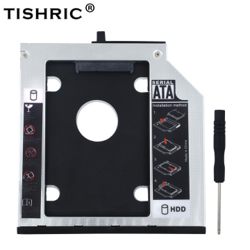 TISHRIC Aluminum 2nd HDD Caddy 9.5mm SATA 3.0 2.5