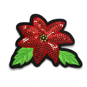 Fashion Customized sequin patches embroidery