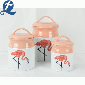 Hot sale popular fashion style candy storage decal container ceramic canister