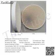 100mm round infrared honeycomb ceramic plate, regenerative ceramic plate, refractory porous ceramic plate, energy-saving plate