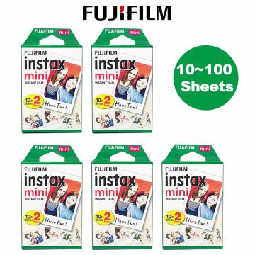 Fujifilm Instax Mini Film 10 20 30 40 50 60 80 100 Sheets 3 inch For mini 9 Polaroid FUJI Instant Camera Photo Mini 9 8 7s 70 90