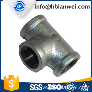 130 tee malleable iron pipe fittings