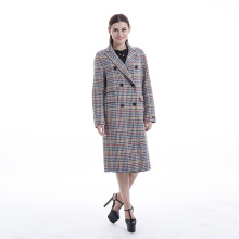 Cashmere overcoat coloured bird checks