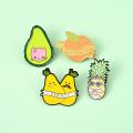 Fresh Fruit Enamel Pin Pear Peach Pineapple Lemon Avocado Badge Custom Brooches Lapel pin Jeans shirt Bag Plant Jewelry Gift