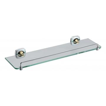 Holder for glass shelf with rail for bathroom