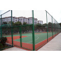 Green PVC Coated Diamond Fence For Stadium