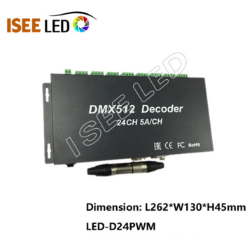 24Channels Output DMX512 LED Controller