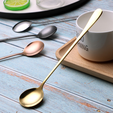 Long Handle Pointed And Round Head Stainless Spoon