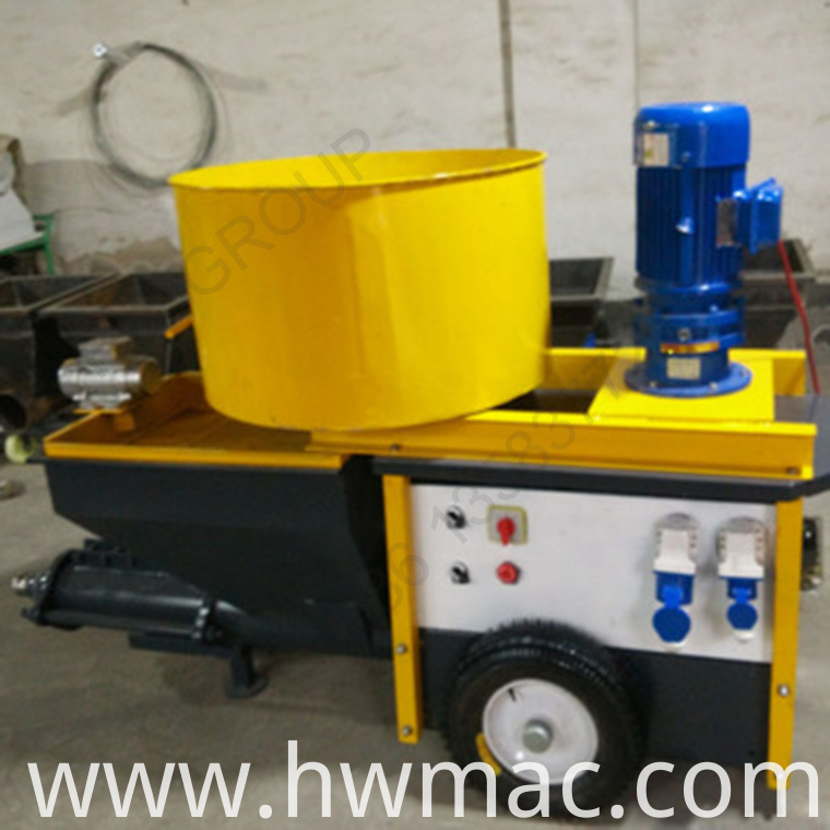 mortar spraying machine with mixer