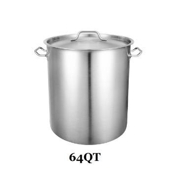 64QT 3-Ply Clad Base Induction Ready Stockpot