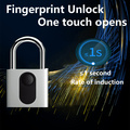 Long life battery waterproof fingerprint Padlock