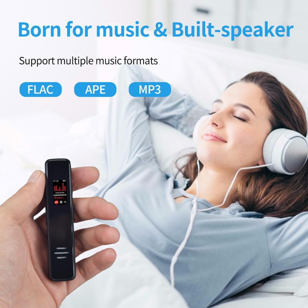 Professional Voice Activated Digital Voice Recorder USB 8GB 16GBLossless Mp3 Player Password Protection Timer Record For Note