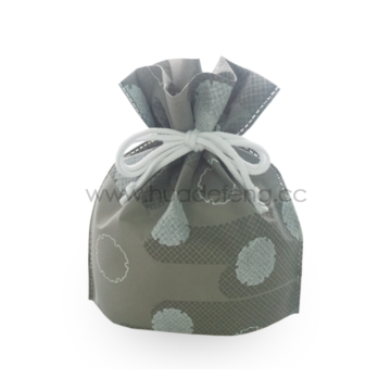 Grey Dots Japan Style Custom Non-Woven Bags