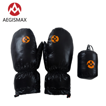 AEGISMAX Winter Warm Windproof Nylon 95% White Goose Down Gloves Mitten For Skiing Snowboard Cycling Hiking Camping