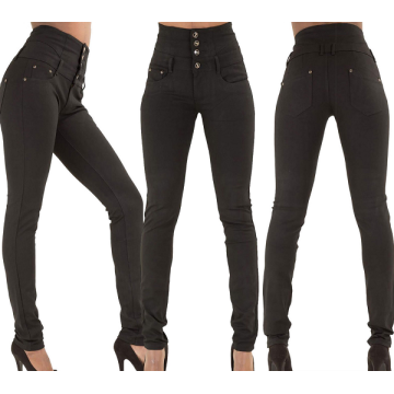 Womens Sexy High-waisted Elastic Slim Fit Denim Jeans