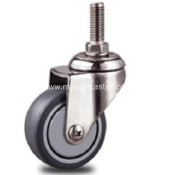 1.5 inch Stainless steel bracket  screw nylon casters without brakes