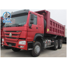 Red  18m3 dump truck of sinotruk