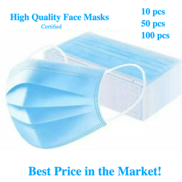 FDA CE Disposable Face Mask 3Ply Masks