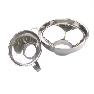 2 Pcs Set Funnel for Wide and Regular Jars Useful Stainless Steel Wide Mouth Canning Funnel Large Mouth Funnels for Beans Sauces
