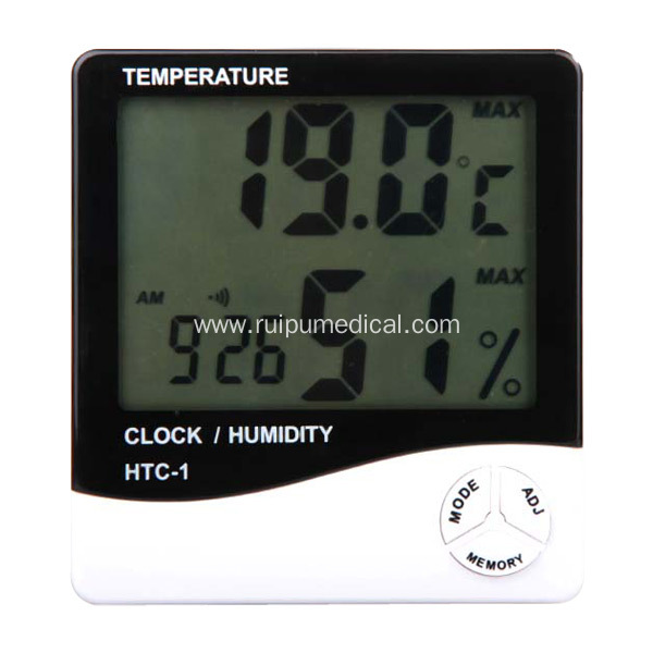 Indoor Alarm Clock Digital Temperature Humidity Meter