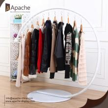 Metal Circular Clothing Display Floor Stand