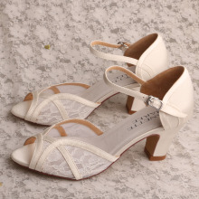 Wedding Block Heeled Shoes Sandals