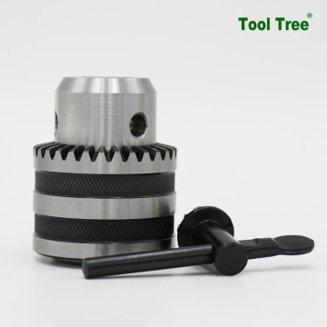 Carburizing taper fitting key type drill chucks