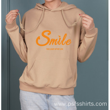 Printed Hoodies with Two Brown Colors