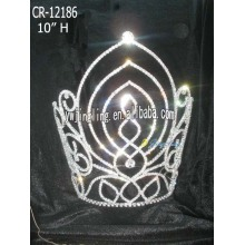 Large tiara new design cheap pageant crown CR-12186