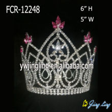 Full round crystal flower girl tiara