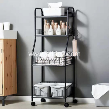 Wire Mesh With Wheels Stainless Steel Storage Rack