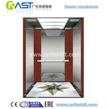 Luxury wood decoration passenger lift