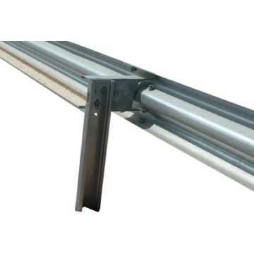 galvanized highway guardrail posts