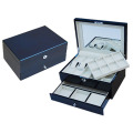 Navy Blue Cool Double-deck Jewelry Box