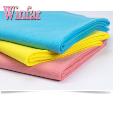 Single Jersey Plain Dye Knit Spandex Polyester Fabric