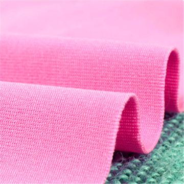 Light Pink Four-side Stretch Knitted Polyester Girls Fabric