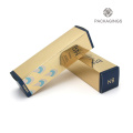 Gold cardboard luxury custom cream bottle box