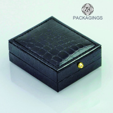 Luxury black cufflink packaging gift box