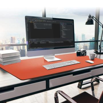 Large Office Computer Desk Mat Modern Table Waterproof PU Leather Laptop Cushion Multifunction Large Mouse Pad 115x50cm