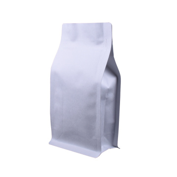 printed aluminum flat bottom empty coffee bag with valve